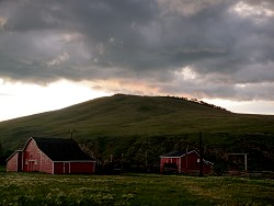 Storm gather over the big hill at WineGlass Ranch